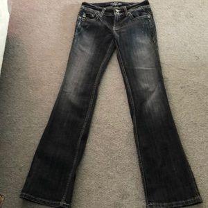 Miss Me black charcoal color Girls Jeans